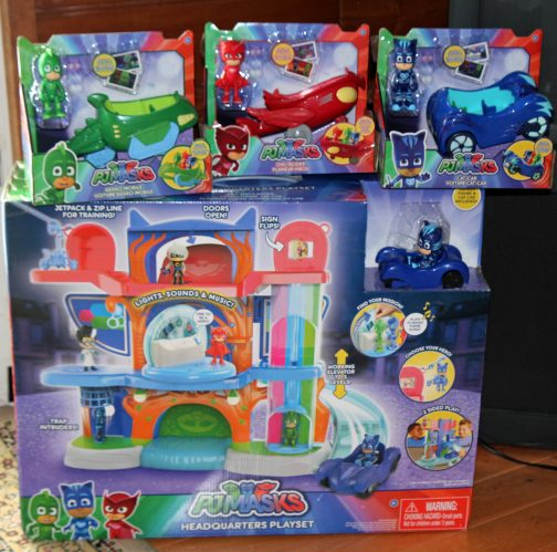 They Also Loved The PJ Masks Vehicles Which All Came With Matching Action Figure Got Owlette Cat Boy And Gekko Along Their Trusty