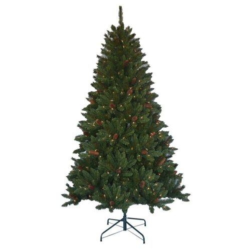 if you have high ceilings and want something larger this gorgeous 9 ft pre lit natural noble fir artificial christmas tree with super tech warm white