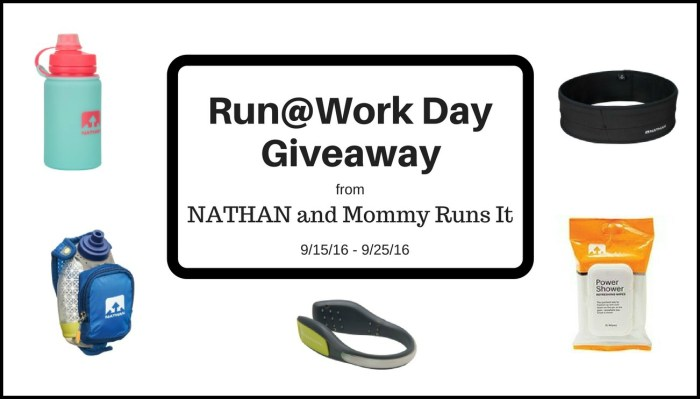 Run@Work Day Giveaway from NATHAN | Mommy Runs it