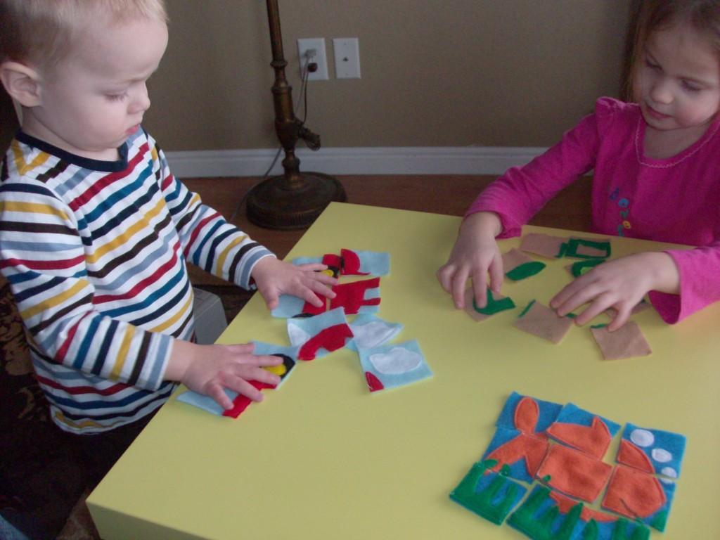 Homemade T Idea For Kids Felt Puzzles