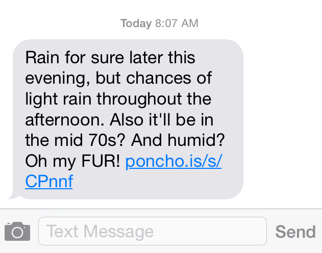 Meet Poncho - Your Personal Weather App #DRAllergy #CollectiveBias