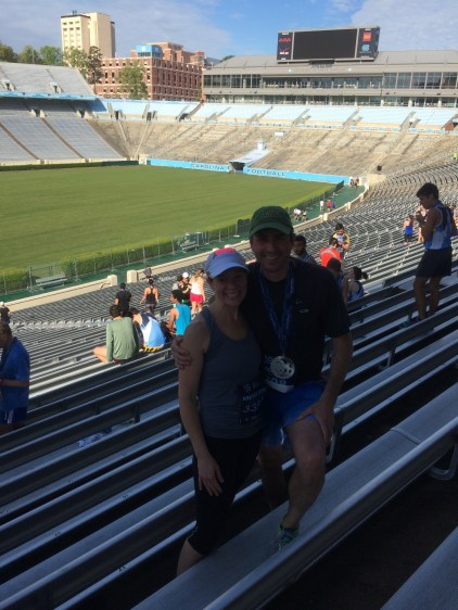 At Kenan after the Tarheel Ten Miler