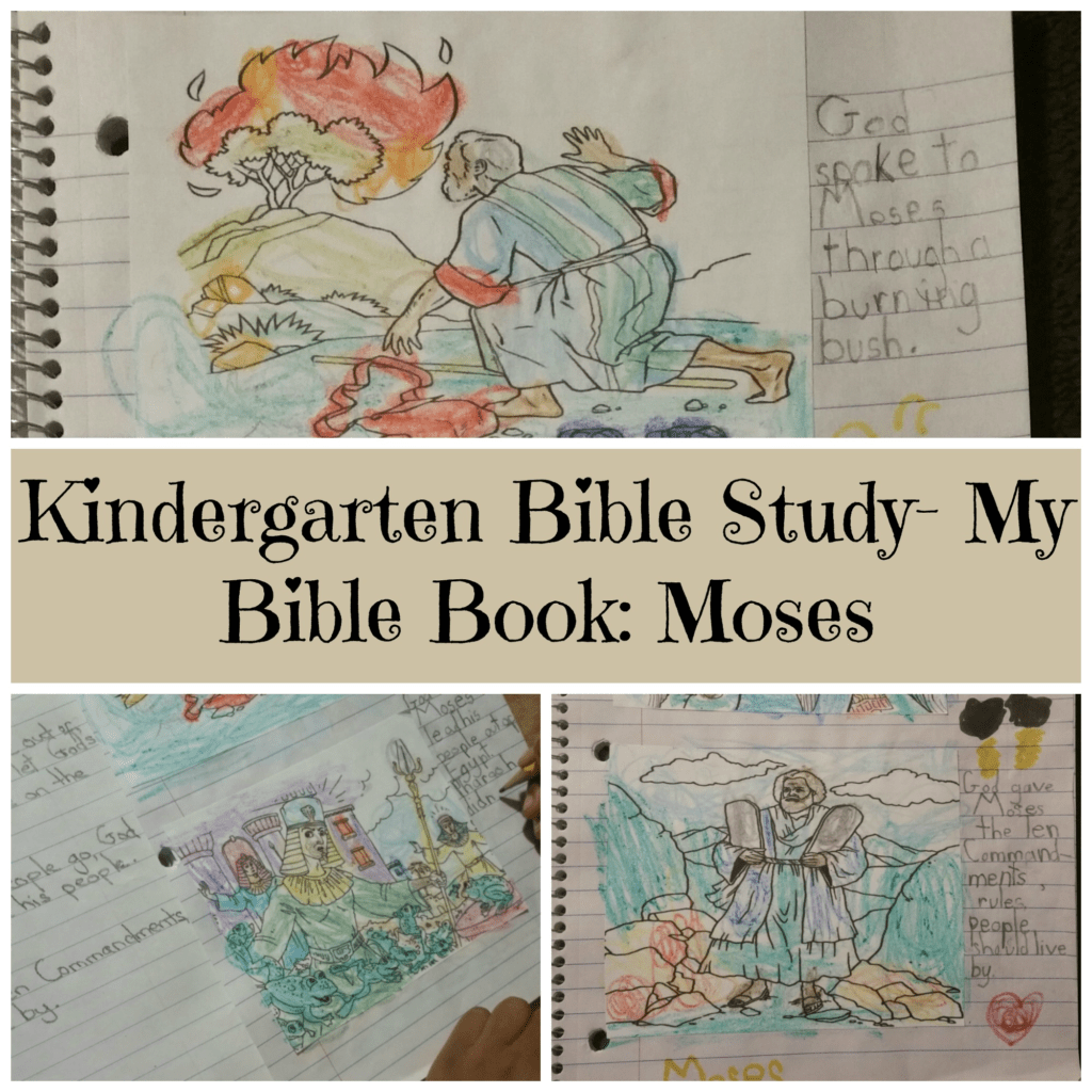 Kindergarten Bible Study My Bible Book Moses