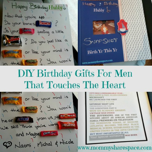 DIY Birthday Gifts For Men That Touches The Heart