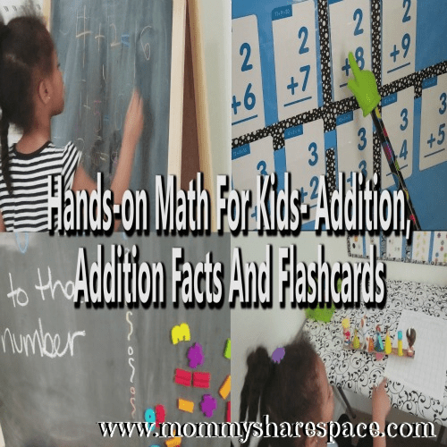 Hands-on Math For Kids- Addition, Addition Facts and Flashcards
