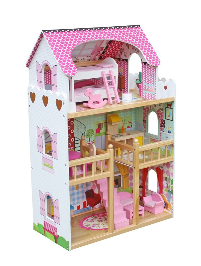 Classic Wooden Doll House #ChristmasGifts