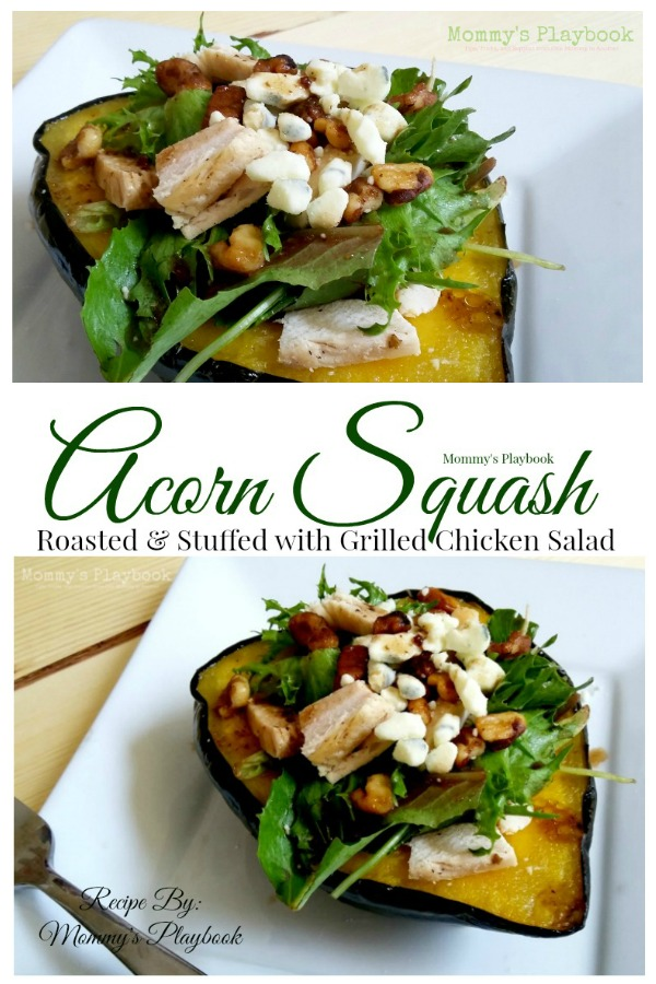 Roasted Acorn Squash Stuffed with Grilled Chicken Salad