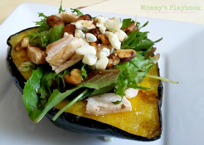Roasted Acorn Squash Stuffed with Chicken Salad