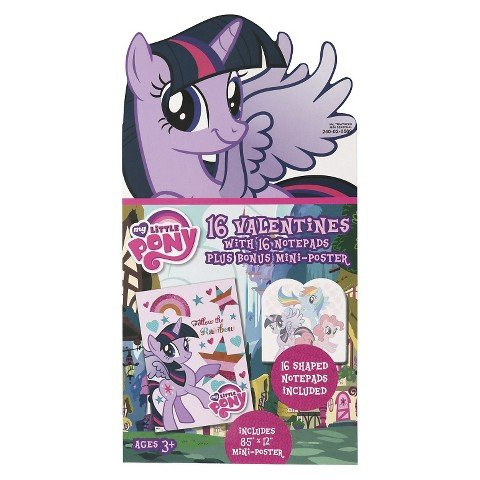 My Little Pony Valentine's Day Notepad, Stickers, and Gift