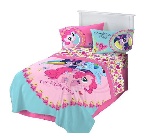 My Little Pony I Heart Ponies Blanket Set Valentine's Day Gift