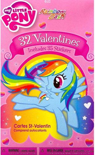 My Little Pony Rainbow Dash 32 Valentines