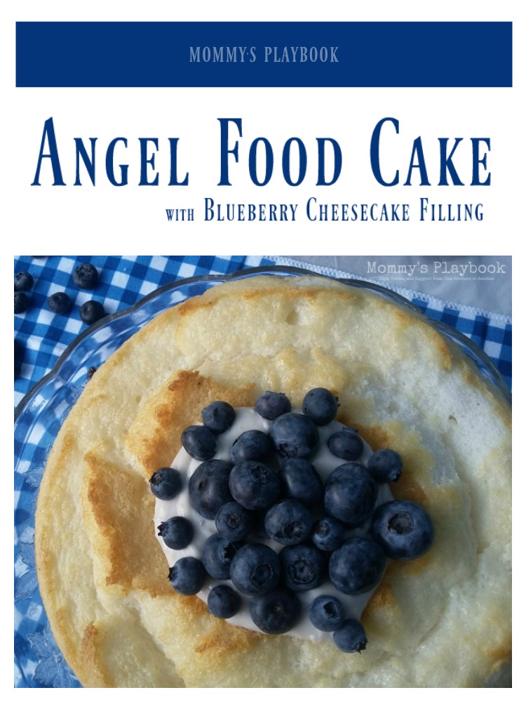 Angel Food Cake with Blueberry Cheesecake Filling; Made with Fresh From Florida Blueberries