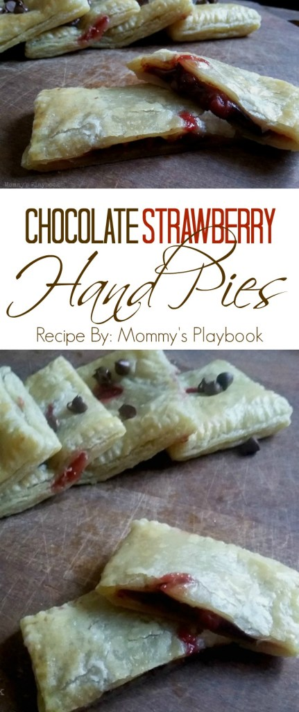 Strawberry Chocolate Hand Pies with Puff Pastry Sheets