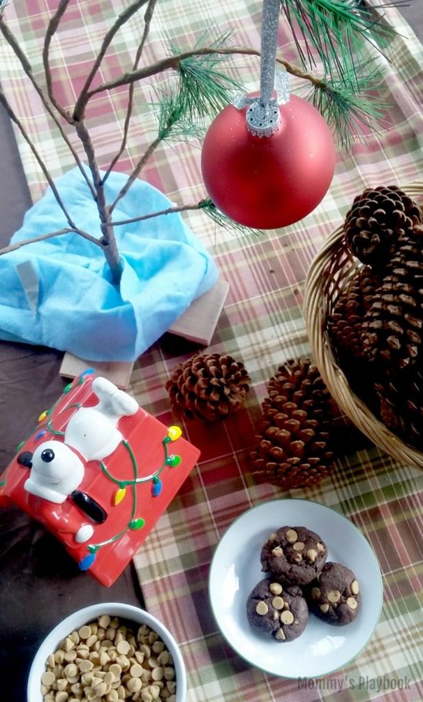 Chocolate Peanut Butter Cookies #ChristmasCookies