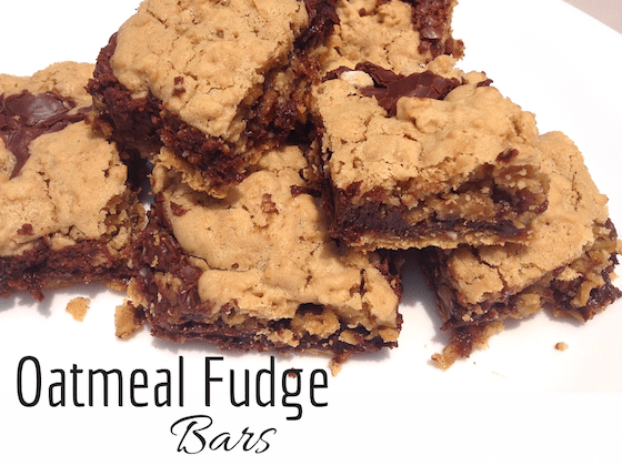 Easy Oatmeal Fudge Bars by Saving You Dinero #ChristmasSweets #ChristmasCookies