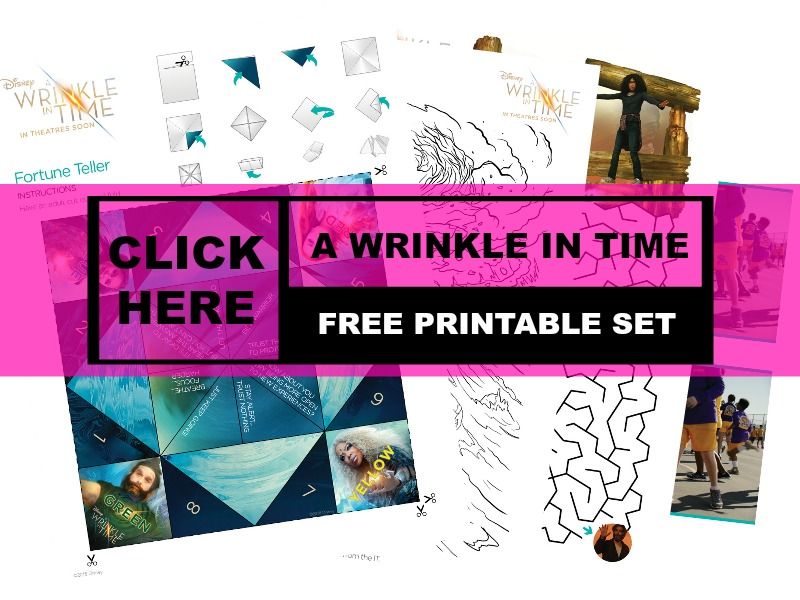 """Free Color & Activity Pages for """"A Wrinkle In Time"""" Movie#Freebie #FreePrintables"""