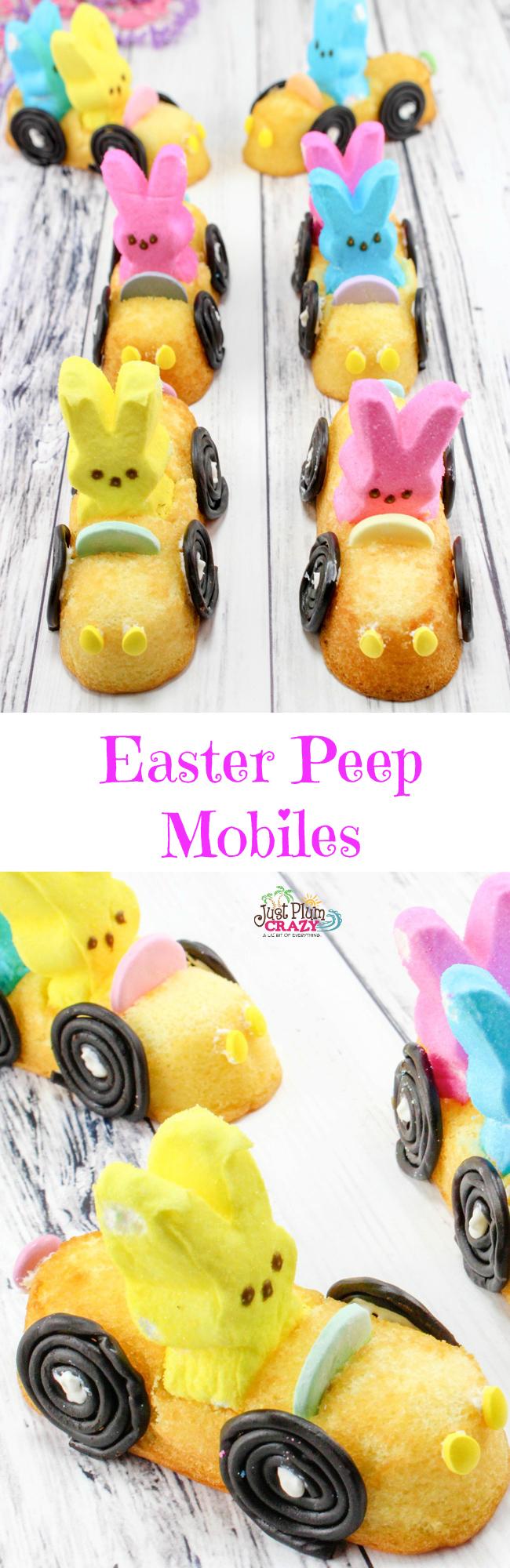 Easy Easter PEEP Mobiles #EasterSweetsandTreats #EasterDessert #KidsEaster
