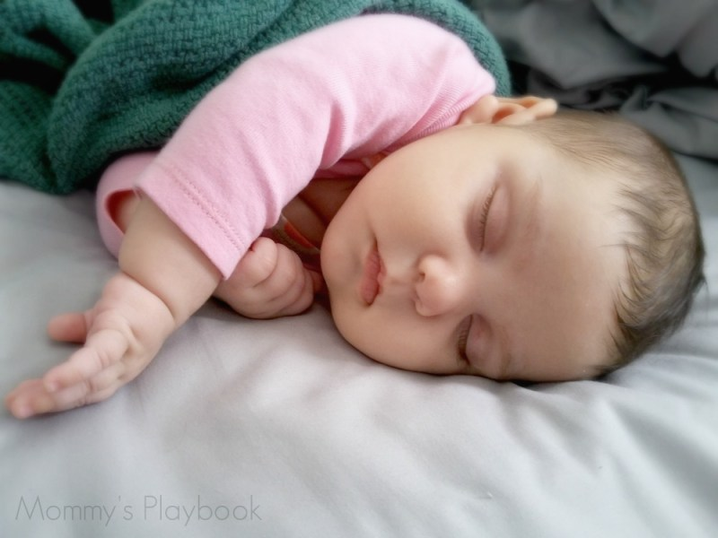 #Shhhhhh Baby Sleeping atop our soft and lovely PeachSkinSheets!