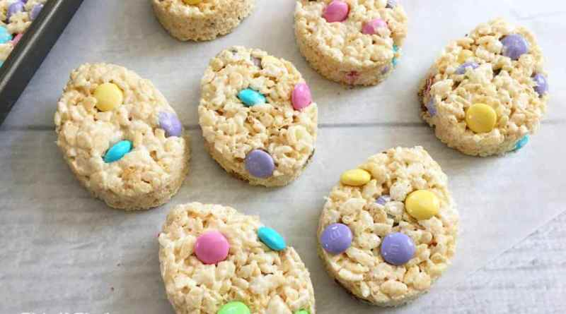 Easter Egg Rice Cereal Treats #EasterDesserts #EasterSweetsandTreats #EasterSunday