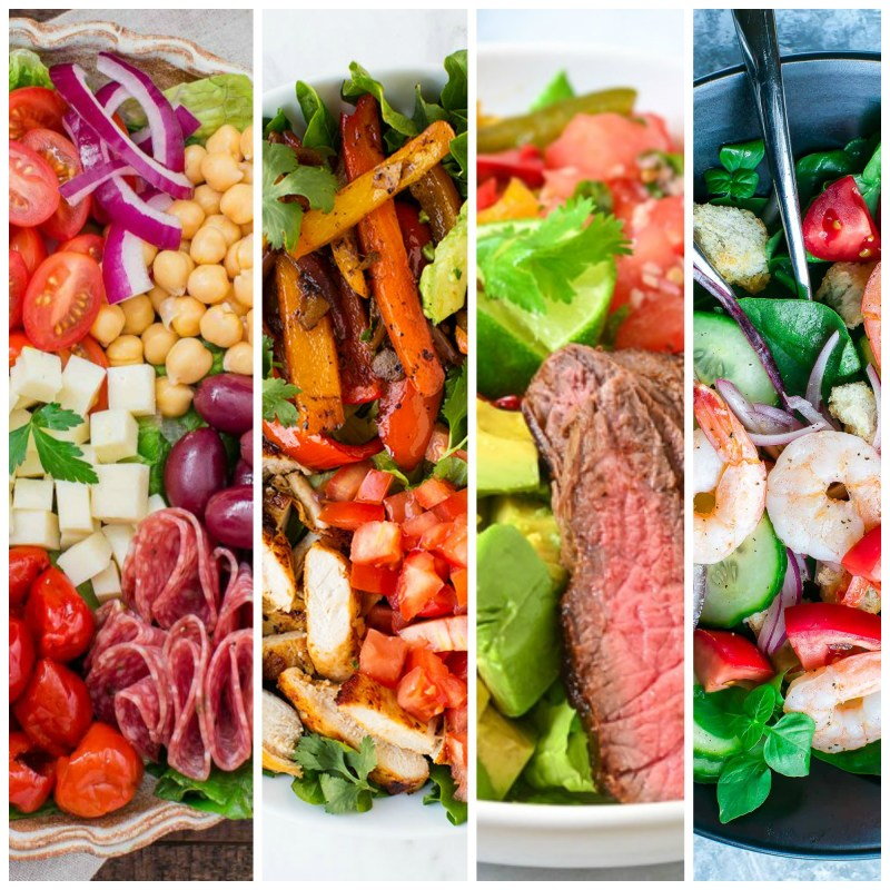 Adventurous Salads for Meat & Seafood Lovers #salads #RecipeRoundup