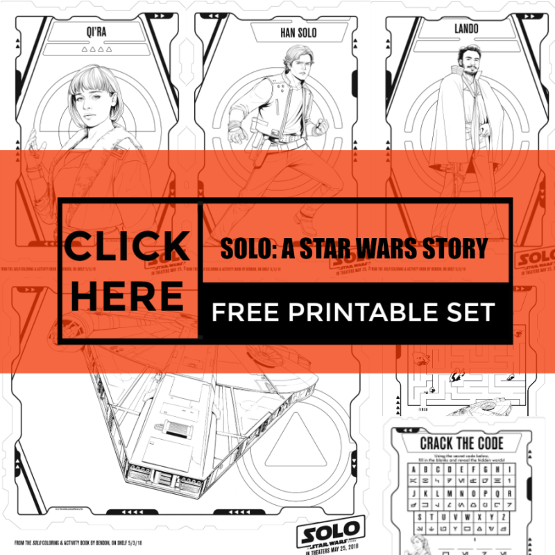 SOLO: A STAR WARS STORY Free Printables Color Pages and Activity Sheets #FreePrintables #ColorPages #StarWars #FreeStarWars