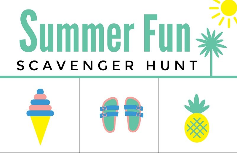 photo relating to Free Printable Scavenger Hunt identified as Summer time Entertaining Scavenger Hunt No cost Printable Worksheet