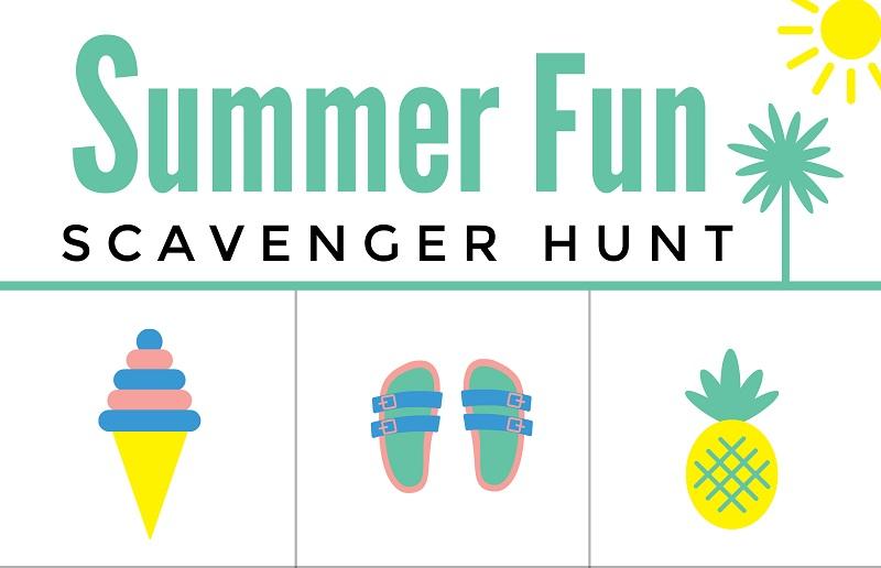 picture about Free Printable Scavenger Hunt named Summertime Entertaining Scavenger Hunt Cost-free Printable Worksheet