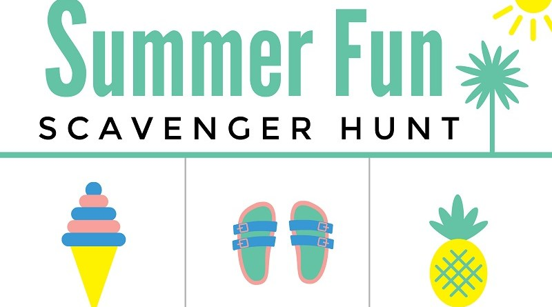 Summer Fun Printable Scavenger Hunt #Freebie #FreePrintable