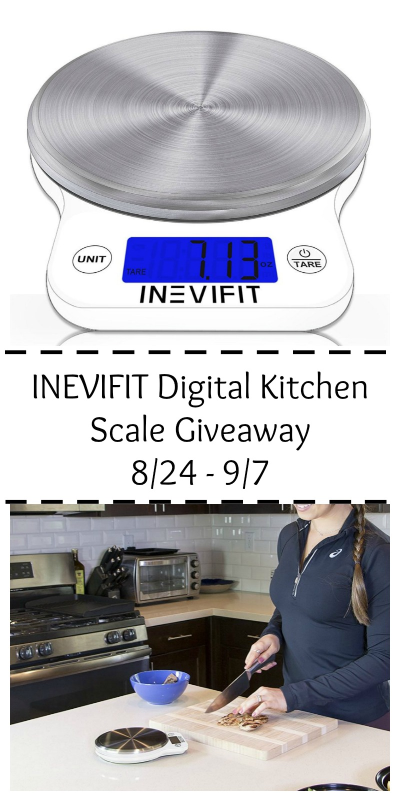 INEVIFIT Kitchen Scale Giveaway at Mommy's Playbook!