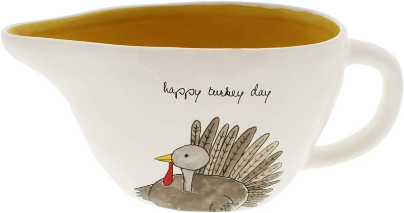 Rae Dunn HAPPY TURKEY DAY Gravy Boat