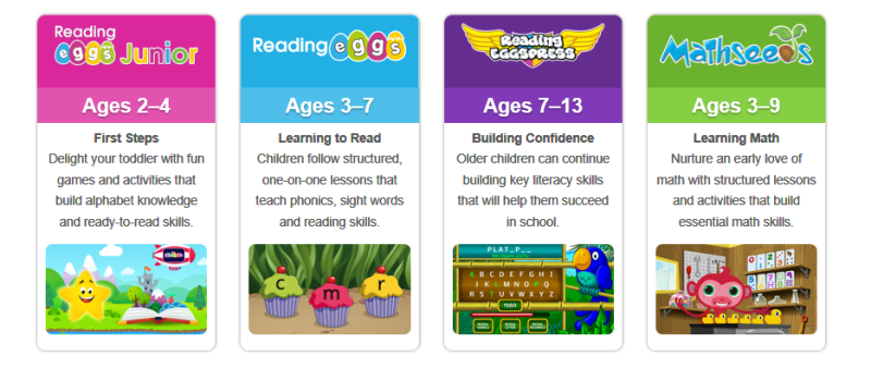 Your FREE trial gives your child access to all of Reading Eggs' award‑winning programs. #eggsplorers #homeschooling #freetrial