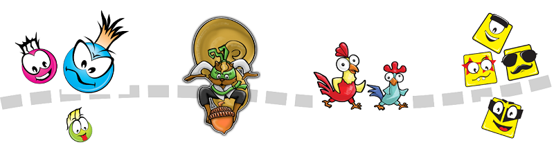RoosterFin Games Fun Characters for Kids!