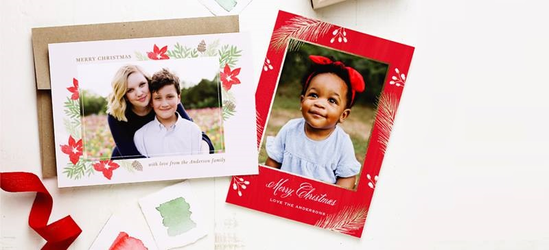 Basic Invite Holiday Photo Card Collection