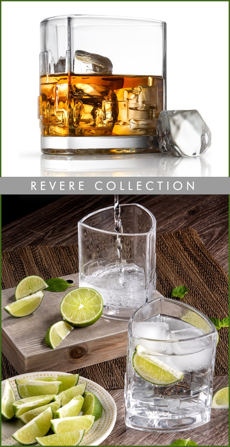 Revere Triangle Double Old Fashioned Glasses is Shatter Resistant and Dishwasher Safe #JoyJolt