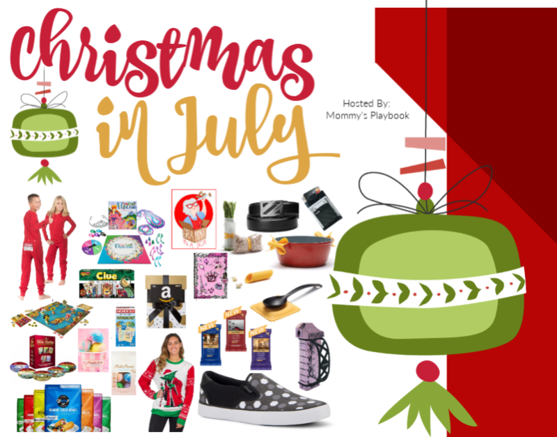 Enter to Win the Christmas in July BIG Family Christmas Event at Mommy's Playbook #EntertoWin #Sweeps #Giveaway #ChristmasinJuly