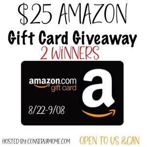 Amazon Gift Card Giveaway Hosted by Conservamom