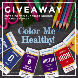 #WIN a $60 pack of #GMOFree, #SugarFree vitamins that instantly dissolve with our @SuperiorSource #backtoschool #giveaway! #nopills2swallow