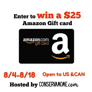 Enter to Win an Amazon Gift Card from Conservamom