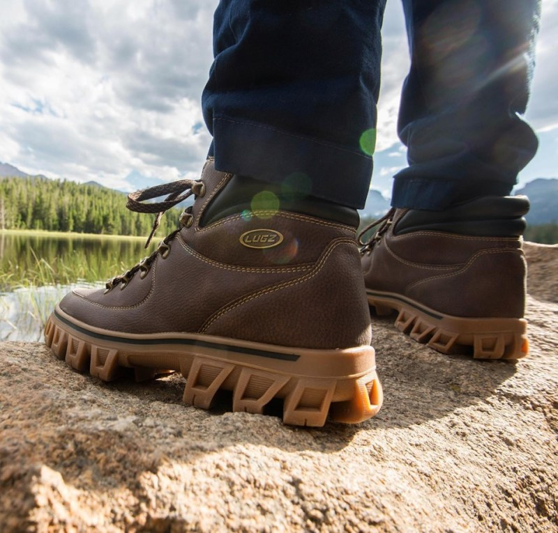 The Lugz Colorado boot wears like a sneaker, but performs like a boot. If you're searching for a dependable and fashionable shoe to get you through a long day on your feet – these chunky soled hikers are for you.