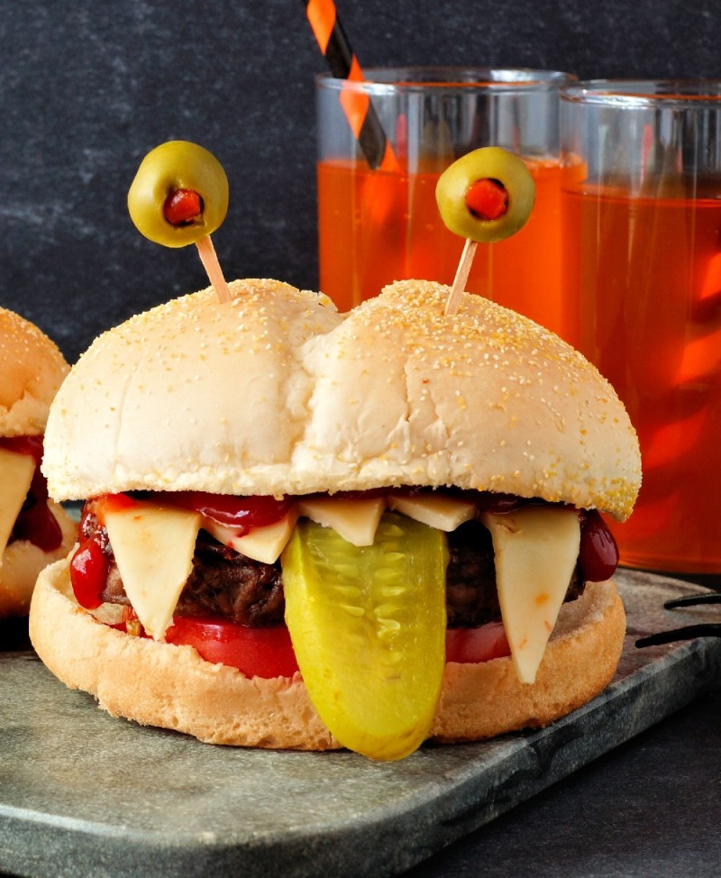 Halloween Dressed Up Monster Burger