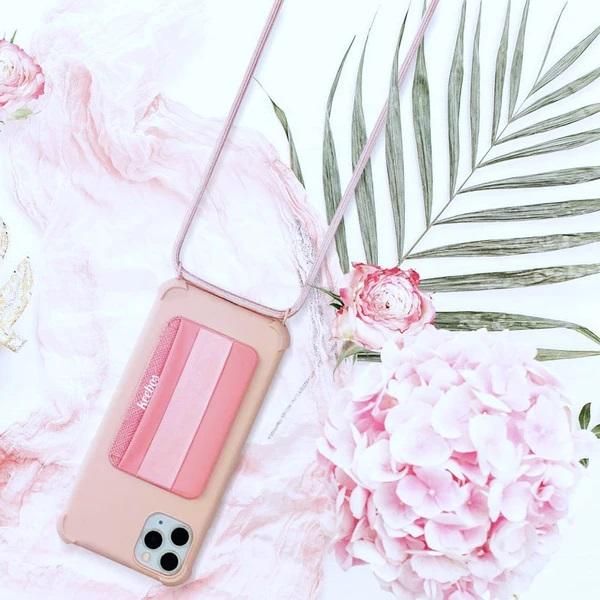 Keebos Pink Crossbody Phone Case Lanyard Holder