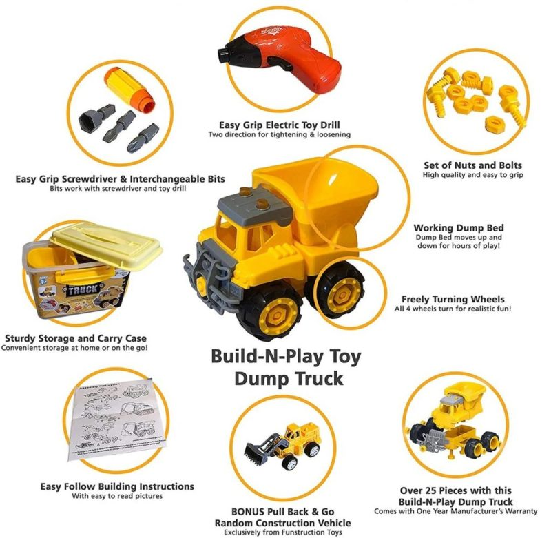 Build N Play Toy Dump Truck