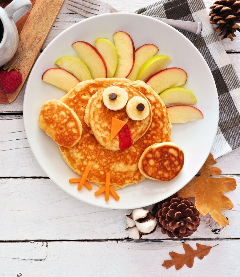 Thanksgiving Breakfast Turkey Pancake