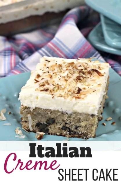 Italian Creme Sheet Cake Recipe