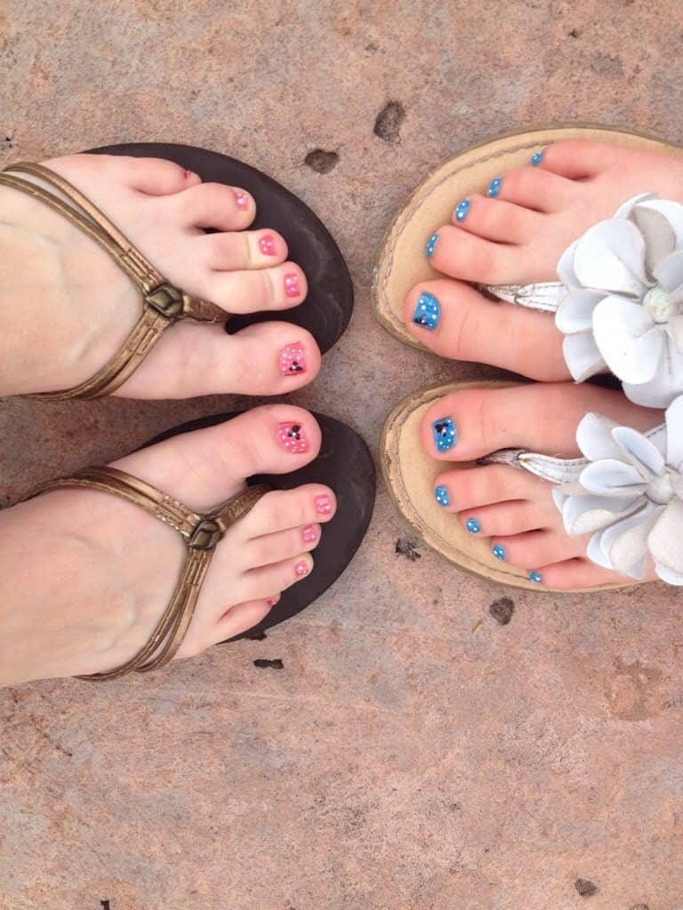 Disney toe nails
