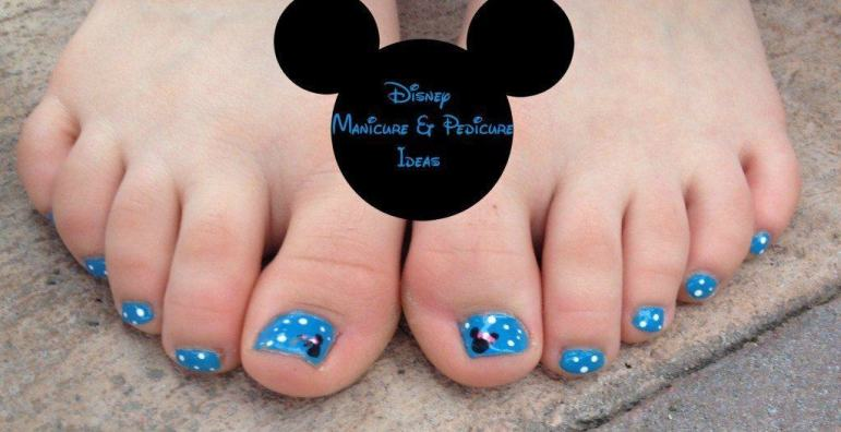 Disney Pedicure and Disney manicure Ideas