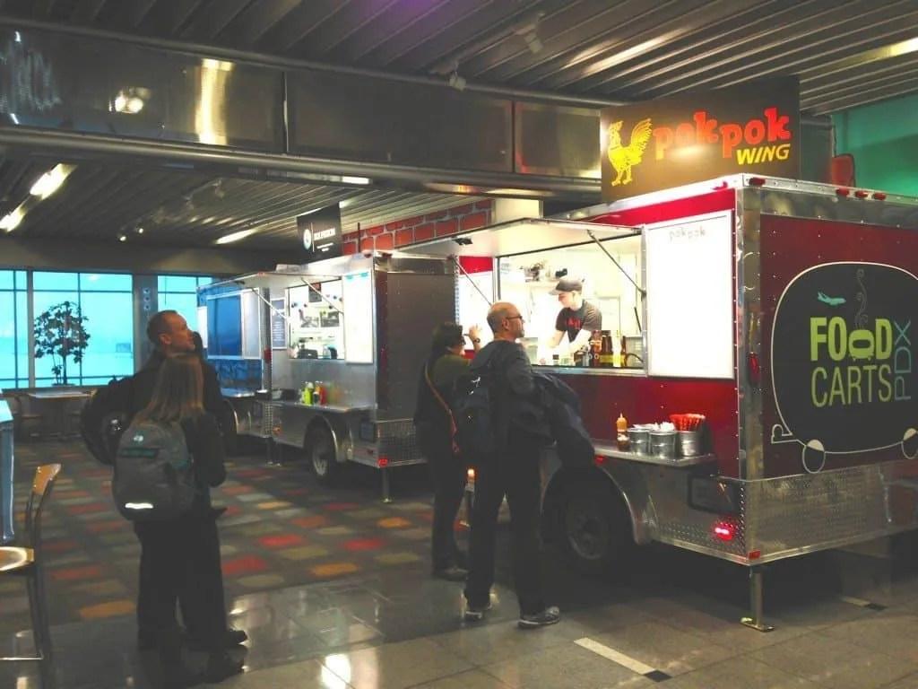 Food Carts at PDX airport