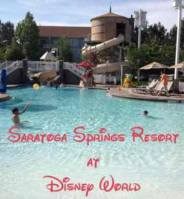 Saratoga Springs is all condos and the perfect family hotel at Disney World.