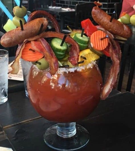 Hangover Recovery Bloody Mary at Guy Fieri's Kitchen & Bar