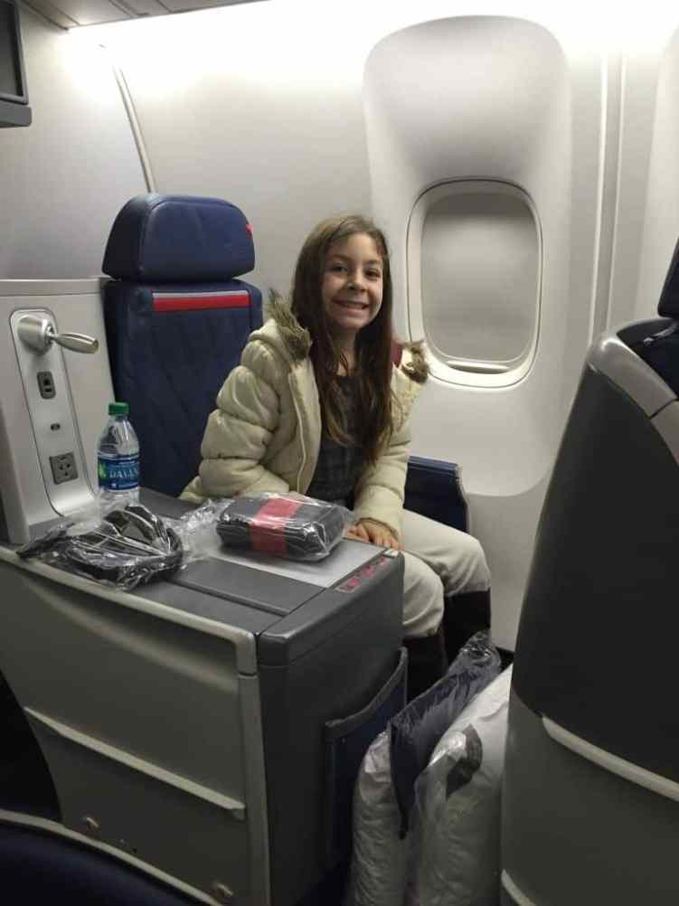 flying 1st class with kids